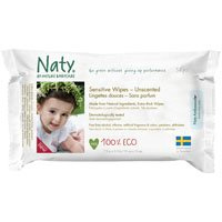 Een afbeelding van Naty Eco sensitive wipes unscented
